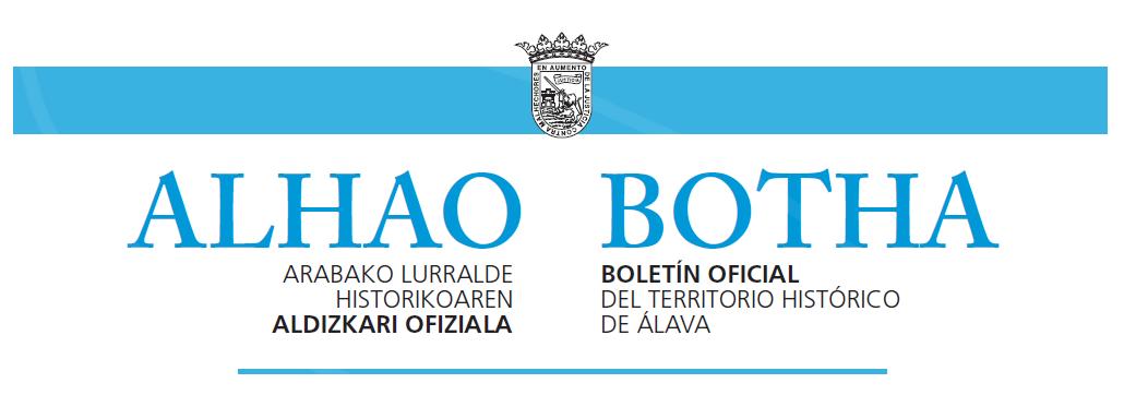 Imagen del boletín Oficial del Territorio Histórico de Álava
